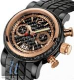 Grand Silverstone Woodcote II Black PVD and red gold, Ltd