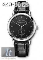 A.Lange and Sohne Saxonia (WG / Black / Leather) 215.029