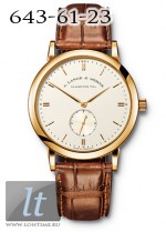 A.Lange and Sohne Saxonia (YG / Champagne / Leather) 215.021