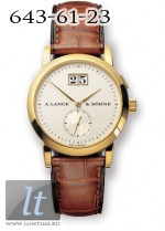 A.Lange and Sohne Saxonia (18kt YG / Silver / Leather) 105.021