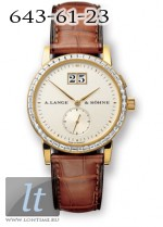 A.Lange and Sohne Saxonia (18kt YG / Silver / Baguettes) 803.022