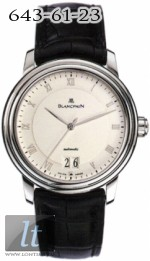 Blancpain Villeret Ultra Slim Automatic & Large Date - 38mm 6850-1542-55b