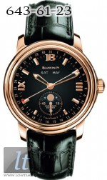 Blancpain Leman Complete Calendar Moon Phase Limited Edition 300 3563A-3642A-53-black-dial