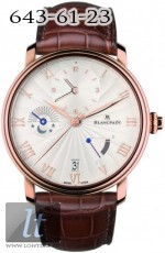 Blancpain Villeret Half Time Zone Watch 6665-3642-55B