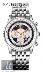 Breitling Montbrillant A4170C SS-Black&White-Steel
