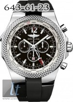 Breitling Bentley GMT Black Dial Rubber A4736212/B919