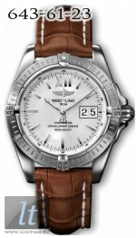 Breitling Windrider - Cockpit A49350.WHITE.INDEX.CROCODILE.BA