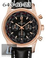 Breitling Transocean Chronograph Unitime Red Gold Diamond Pilot RB0510U7/BC75/441X
