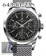 Breitling Transocean Chronograph Black Dial Steel ab015212/ba99-ss