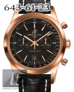 Breitling Transocean Chronograph 38 Black Dial Rose Gold 2013 R4131012/BC07-728P