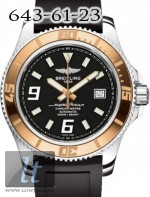 Breitling Superocean 44 Steel Rose Gold Abyss White Diver Pro Strap c1739112/ba77-1rd
