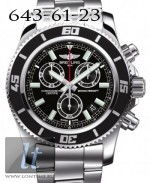 Breitling Superocean Chronograph M2000 Volcano black Stainless Steel Bracelet a73310a8/bb73-ss
