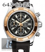 Breitling Superocean Chronograph II Steel Rose Gold Abyss Whiye dial Ocean Race Strap c1334112/ba84-1or