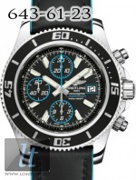 Breitling Superocean Chronograph II Steel Abyss Blue dial Superocean Strap a13341a8/ba83-1lts
