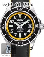 Breitling Superocean 42  Abyss Yellow Superocean Calfskin Leather Black a1736402/ba32-1lts