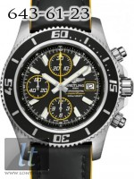 Breitling Superocean Chronograph II Steel Abyss Yellow dial Superocean Strap a13341a8/ba82-1lts