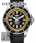 Breitling Superocean 42 Abyss Yellow Diver Pro Rubber Black Strap a1736402/ba32-1rt