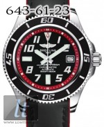 Breitling Superocean 42  Abyss Red Superocean Calfskin Leather Black a1736402/ba31-1lts