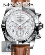 Breitling Chronomat 41 Steel White dial Crocodile Leather Brown ab014012/g711-2ct