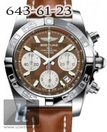 Breitling Chronomat 41 Steel Brown dial Calfskin Leather Brown ab014012/q583-2ld