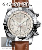 Breitling Chronomat 44 Stainless Steel Sierra silver dial Leather Brown strap ab011012/g684-1lt