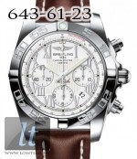 Breitling Chronomat 44 Stainless Steel Antarctica white dial Leather Brown strap ab011012/a690-2ld