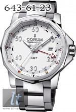 Corum Admiral's Cup GMT 44 Steel 383.330.20/V701 AA12