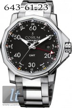 Corum Admiral's Cup GMT 44 Steel Dial Black 383.330.20/V701 AN12