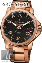 Corum Admiral's Cup GMT 44  All Red Gold Black Dial 383.330.55/V700 AN12