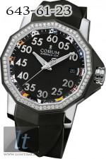 Corum Admiral's Cup Competition 40 Steel Diamond 082.954.47/F371 AN32