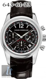 Girard Perregaux Classique Elegance Fly-Back (SS / Black / Leather) 49580-11-651-BA6A