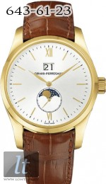 Girard Perregaux Classique Elegance Large Date (YG / White / Leather)