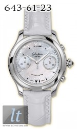 Glashutte Original Lady Serenade Chronograph (SS MOP Leather) 39-34-12-02-04