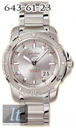 Glashutte Original Sport Evolution Panorama Date (SS / Silver / SS) 39-42-44-04-14