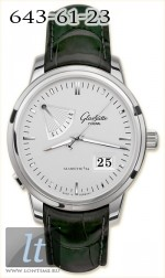 Glashutte Original Senator Power Reserve Display (SS / White / Leather) 100-01-13-02-04