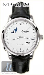 Glashutte Original Senator Panorama Date with Moon Phase (SS / White / Leather) 100-04-13-02-04