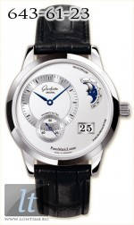 Glashutte Original Panomaticlunar (SS / Silver / Leather)