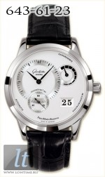 Glashutte Original Panomaticreserve (SS / Silver / Leather) 90-03-02-02-04