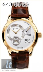 Glashutte Original Panoreserve (RG / Silver / Leather) 65-01-01-01-04