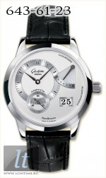 Glashutte Original Panoreserve (SS / Silver / Leather) 65-01-02-02-04