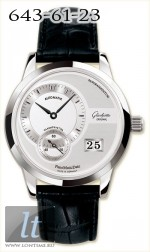 Glashutte Original Panomaticdate (SS / Silver / Leather) 90-01-02-02-04