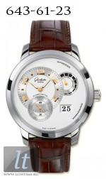 Glashutte Original Panomatycreserve XL (WG / Silver / Leather) 90-03-31-14-05