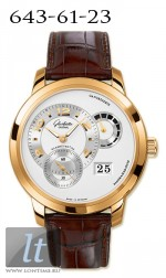 Glashutte Original Panomatycreserve XL (RG / Silver / Leather) 90-03-31-11-05