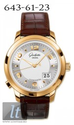 Glashutte Original Panomaticcentral XL (RG / Silver / Leather) 100-03-21-11-05