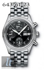 IWC Spitfire Chronograph (Black / SS) IW3706-18