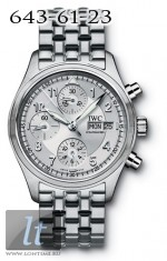 IWC Spitfire Chronograph (Silver / SS) IW3706-28