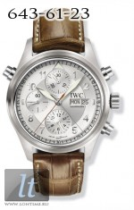 IWC Spitfire Double Chronograph (Silver) IW3713-43