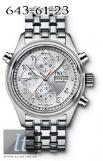 IWC Spitfire Double Chronograph (Silver / SS) IW3713-48