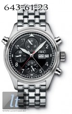 IWC Spitfire Double Chronograph (Black / SS) IW3713-38