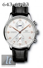 IWC Portuguese Chrono-Automatic (SS / White / Leather) IW3714-01